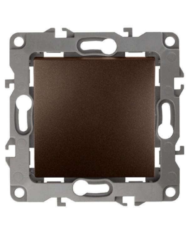 12-1001-13 ЭРА Выключатель, 10АХ-250В, IP20, без м.лапок, Эра12, бронза (10/100/2500)