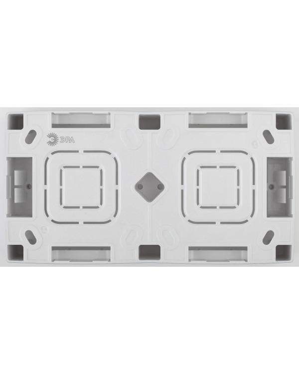 12-6102-12 ЭРА Коробка наклад. монтажа 2 поста, Эра12, графит (10/100/800)