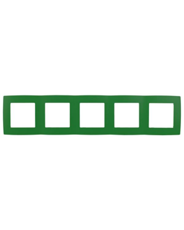 12-5005-27 ЭРА Рамка на 5 постов, Эра12, зелёный (10/100/1600)