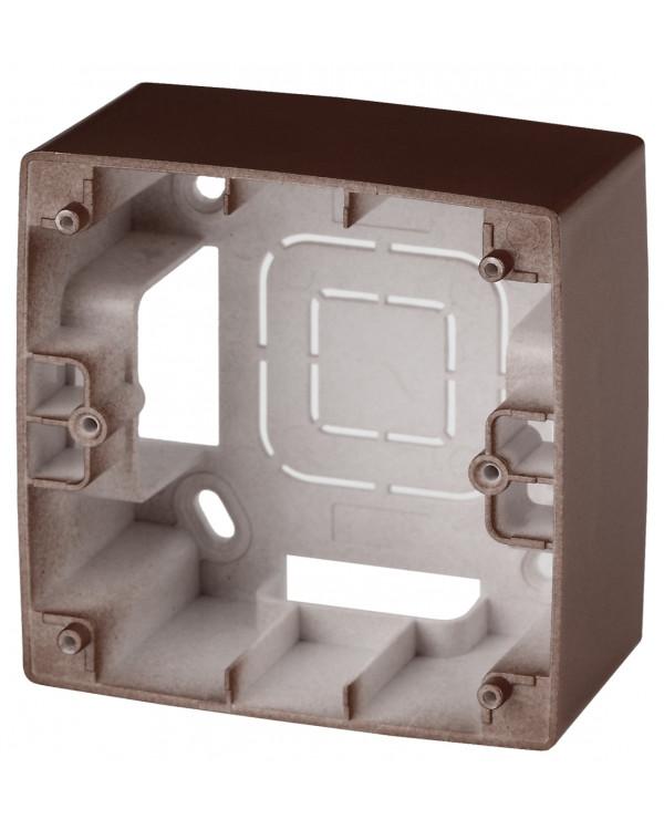 12-6101-13 ЭРА Коробка наклад. монтажа 1 пост, Эра12, бронза (20/200/1600)