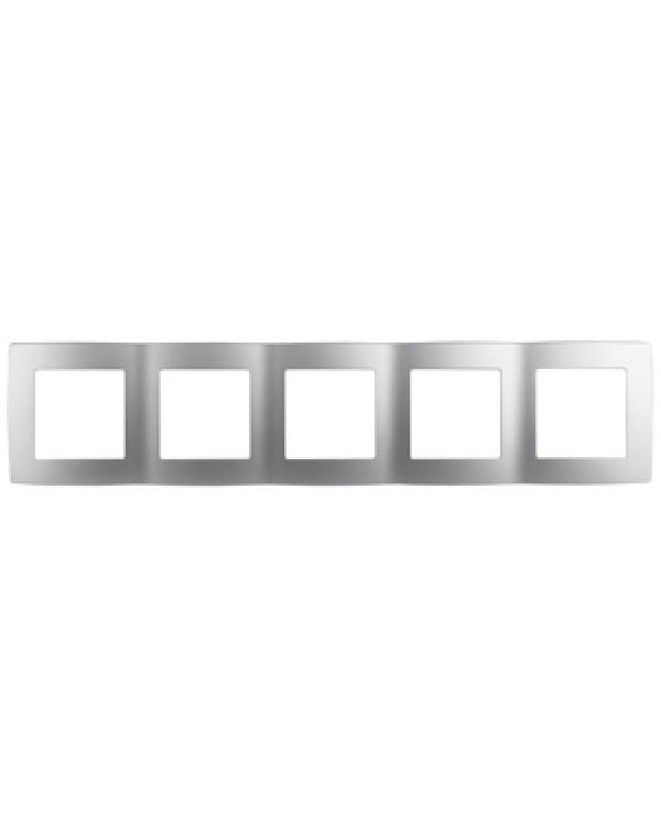 12-5005-03 ЭРА Рамка на 5 постов, Эра12, алюминий (10/100/1600)