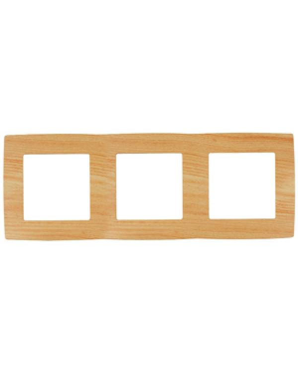 12-5003-11 ЭРА Рамка на 3 поста, Эра12, сосна (15/150/2400)