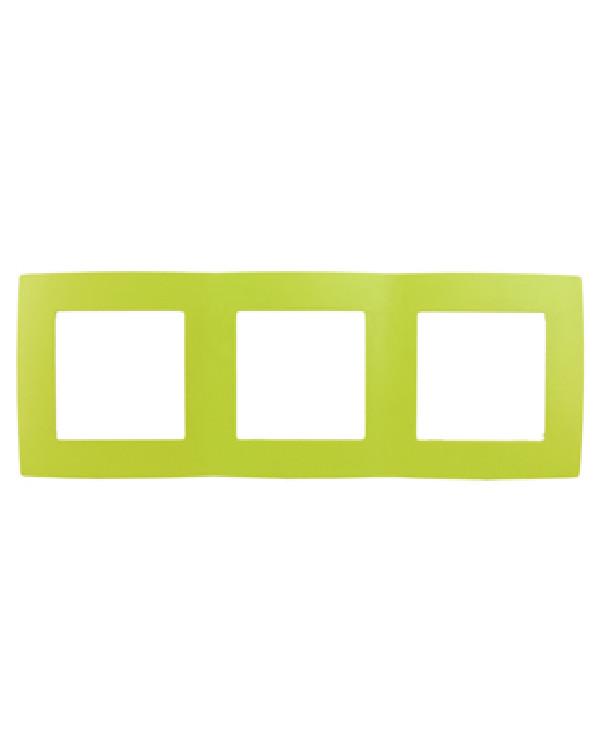 12-5003-26 ЭРА Рамка на 3 поста, Эра12, лайм (15/150/3750)