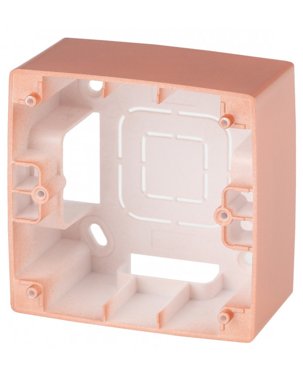 12-6101-14 ЭРА Коробка наклад. монтажа 1 пост, Эра12, медь (20/200/1200), 12-6101-14