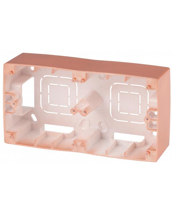 12-6102-14 ЭРА Коробка наклад. монтажа 2 поста, Эра12, медь (10/100/800), 12-6102-14