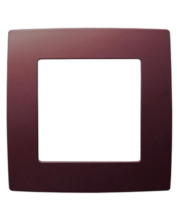 12-5001-25 ЭРА Рамка на 1 пост, Эра12, бордо (20/200/5000), 12-5001-25