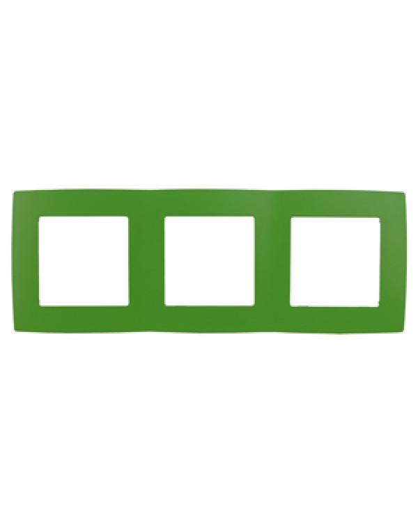 12-5003-27 ЭРА Рамка на 3 поста, Эра12, зелёный (15/150/2400), 12-5003-27