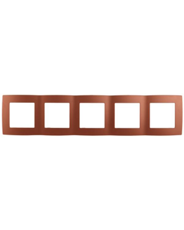 12-5005-14 ЭРА Рамка на 5 постов, Эра12, медь (10/100/2500), 12-5005-14