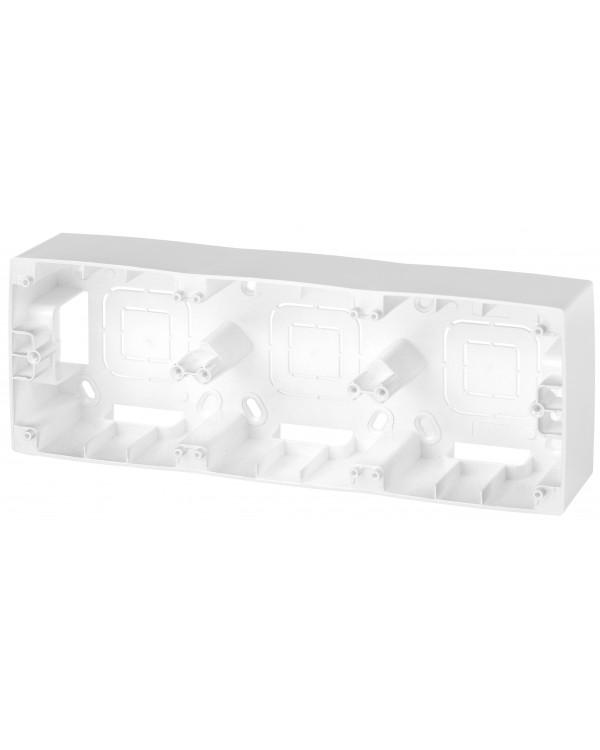 12-6103-15 ЭРА Коробка наклад. монтажа 3 поста, Эра12, перламутр (5/50/600)
