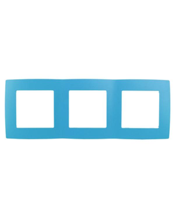 12-5003-28 ЭРА Рамка на 3 поста, Эра12, голубой (15/150/2400)