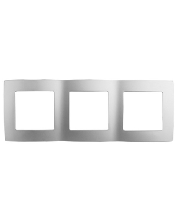 12-5003-03 ЭРА Рамка на 3 поста, Эра12, алюминий (15/150/2400)
