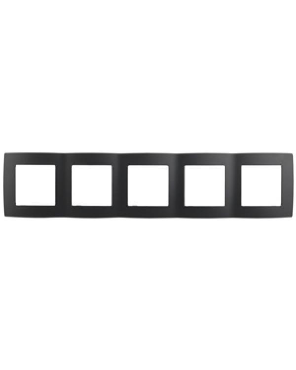 12-5005-05 ЭРА Рамка на 5 постов, Эра12, антрацит (10/100/1600), 12-5005-05