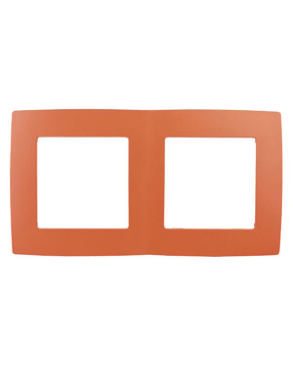 12-5002-22 ЭРА Рамка на 2 поста, Эра12, оранжевый (10/100/2500)