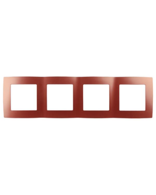 12-5004-24 ЭРА Рамка на 4 поста, Эра12, охра (10/100/2000)