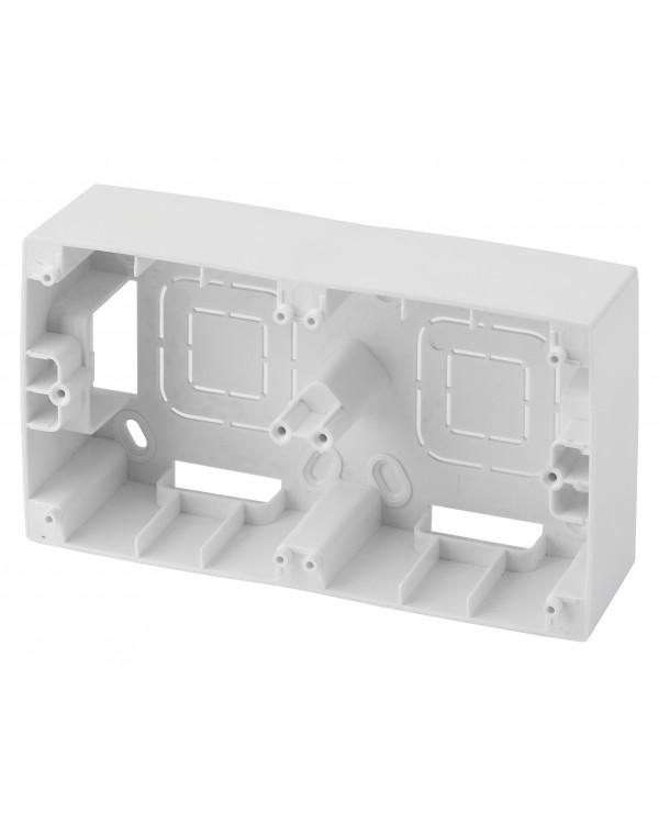 12-6102-01 ЭРА Коробка наклад. монтажа 2 поста, Эра12, белый (10/100/600)
