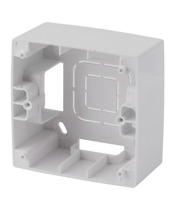 12-6101-01 ЭРА Коробка наклад. монтажа 1 пост, Эра12, белый (20/200/1600)