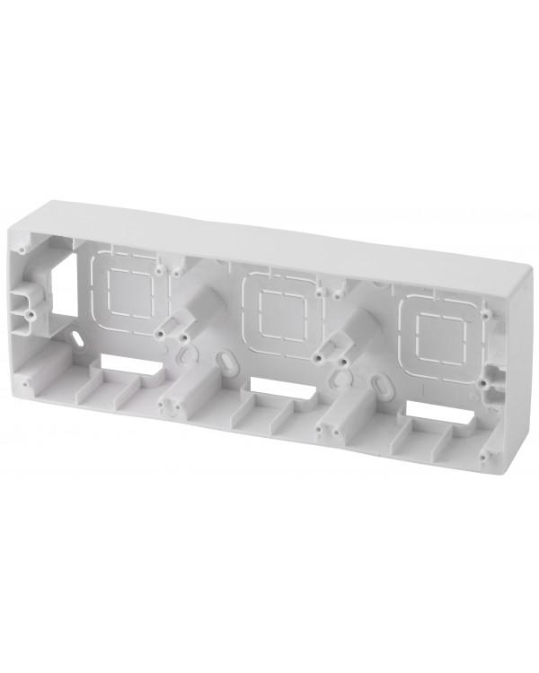 12-6103-01 ЭРА Коробка наклад. монтажа 3 поста, Эра12, белый (5/50/400)