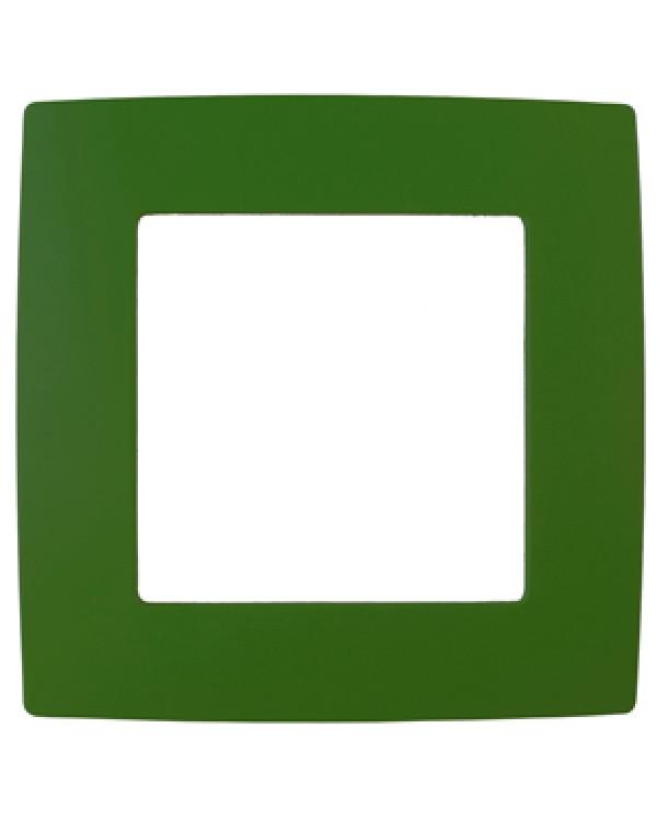 12-5001-27 ЭРА Рамка на 1 пост, Эра12, зелёный (20/200/5000)