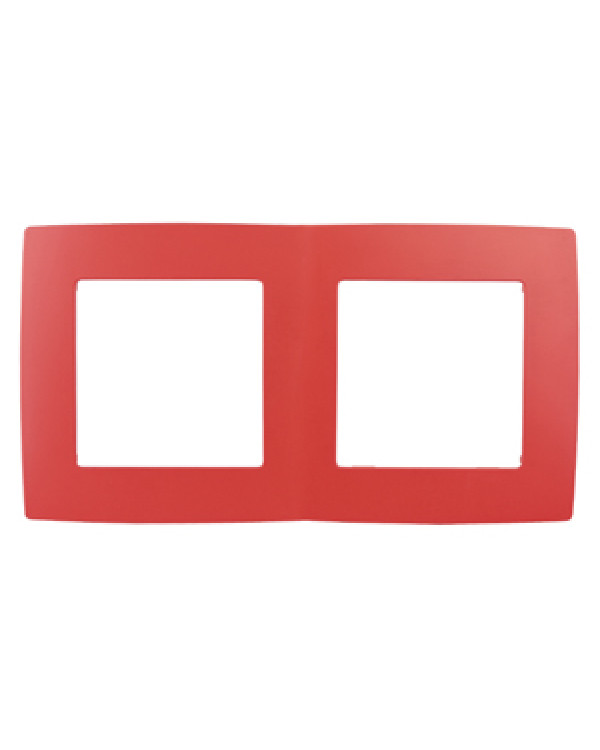 12-5002-23 ЭРА Рамка на 2 поста, Эра12, красный (10/100/2500), 12-5002-23