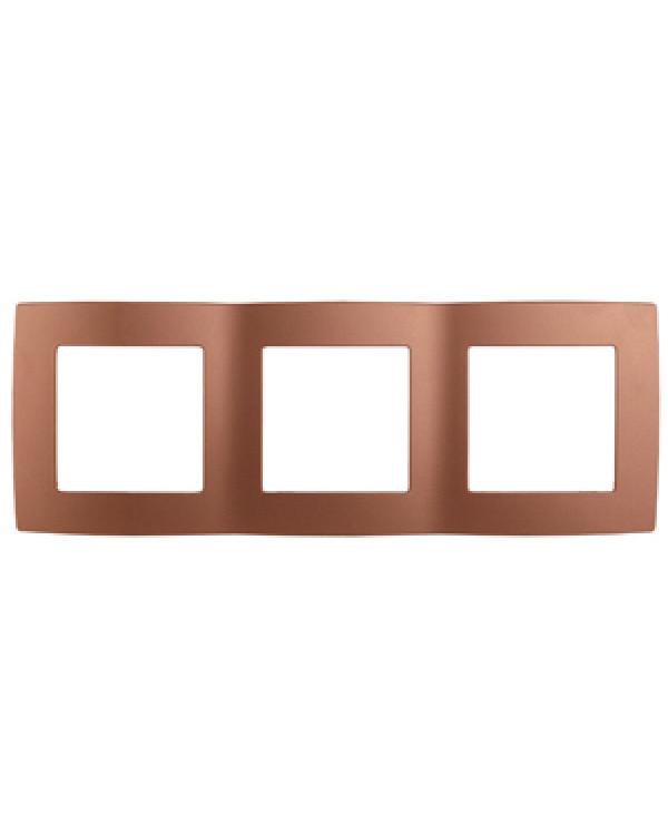12-5003-14 ЭРА Рамка на 3 поста, Эра12, медь (15/150/2400)