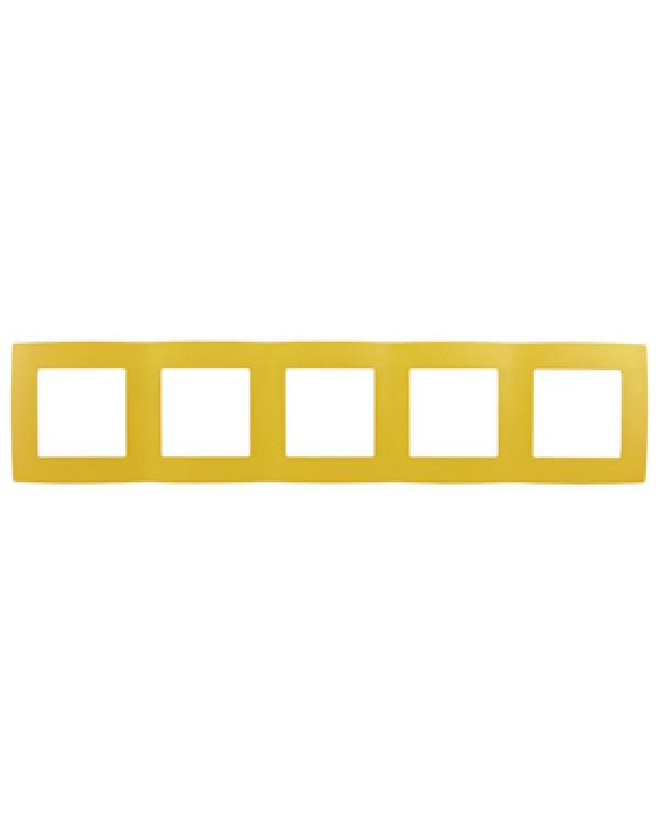 12-5005-21 ЭРА Рамка на 5 постов, Эра12, жёлтый (10/100/1600), 12-5005-21