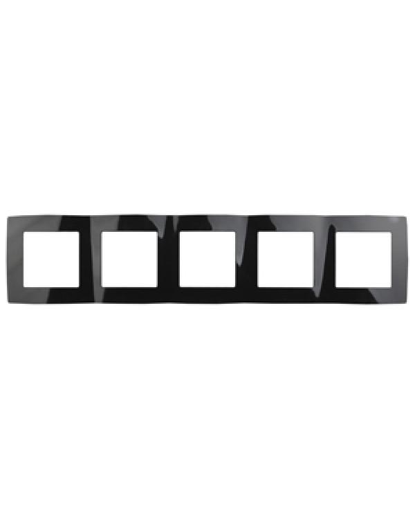 12-5005-06 ЭРА Рамка на 5 постов, Эра12, чёрный (10/100/1600), 12-5005-06