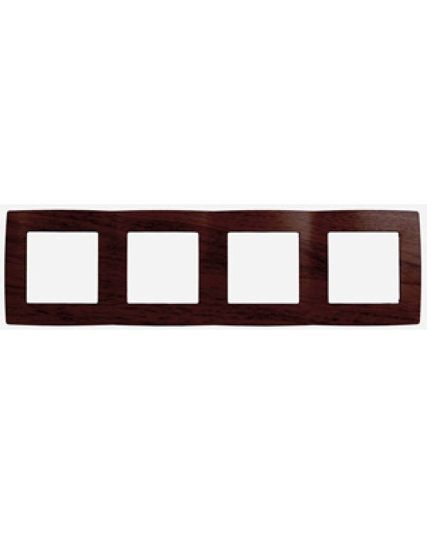 12-5004-10 ЭРА Рамка на 4 поста, Эра12, венге (10/100/2400), 12-5004-10