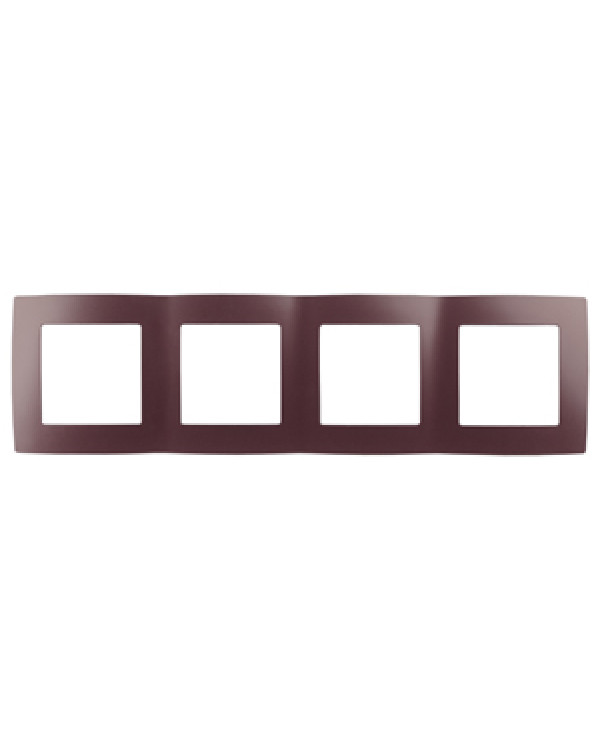 12-5004-25 ЭРА Рамка на 4 поста, Эра12, бордо (10/100/2000), 12-5004-25