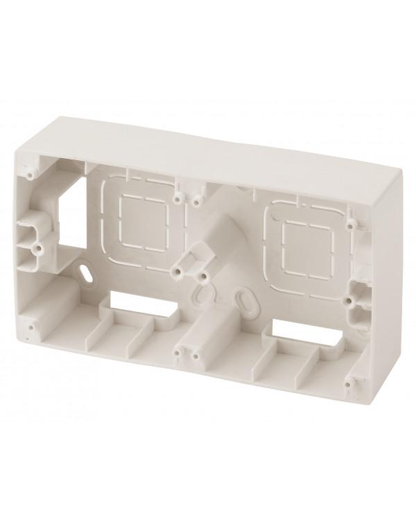 12-6102-02 ЭРА Коробка наклад. монтажа 2 поста, Эра12, слоновая кость (10/100/800)