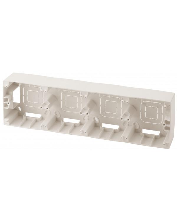 12-6104-02 ЭРА Коробка наклад. монтажа 4 поста, Эра12, слоновая кость (5/50/300)