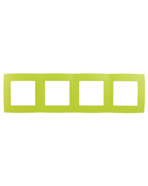 12-5004-26 ЭРА Рамка на 4 поста, Эра12, лайм (10/100/2000), 12-5004-26