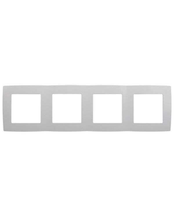 12-5004-01 ЭРА Рамка на 4 поста, Эра12, белый (10/100/1600), 12-5004-01