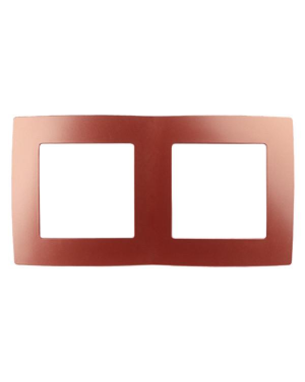 12-5002-24 ЭРА Рамка на 2 поста, Эра12, охра (10/100/2500), 12-5002-24