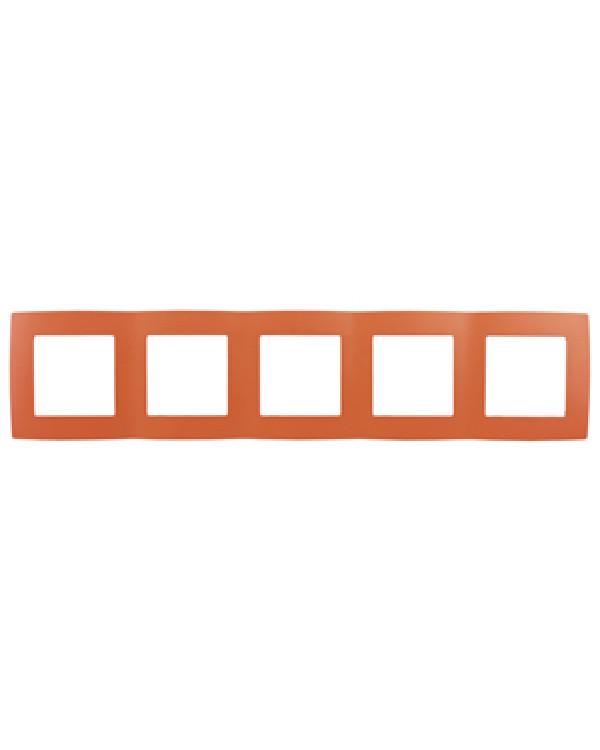 12-5005-22 ЭРА Рамка на 5 постов, Эра12, оранжевый (10/100/1600)