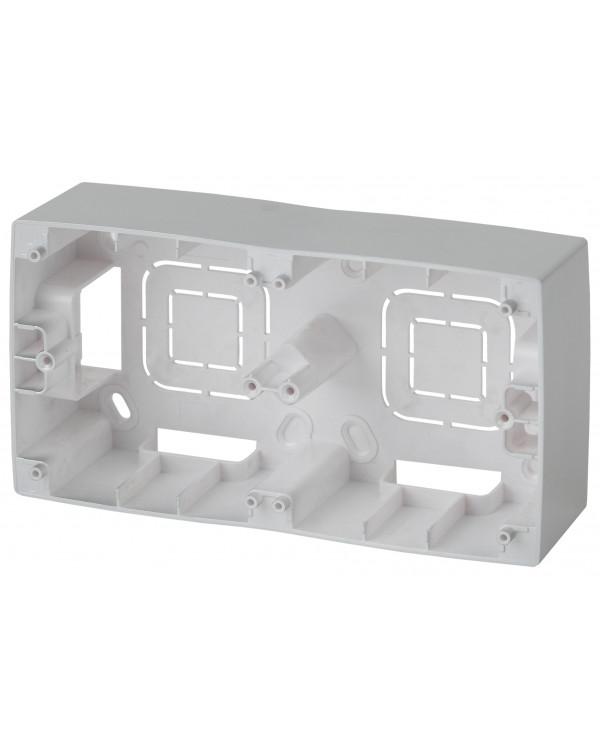 12-6102-03 ЭРА Коробка наклад. монтажа 2 поста, Эра12, алюминий (10/100/800)