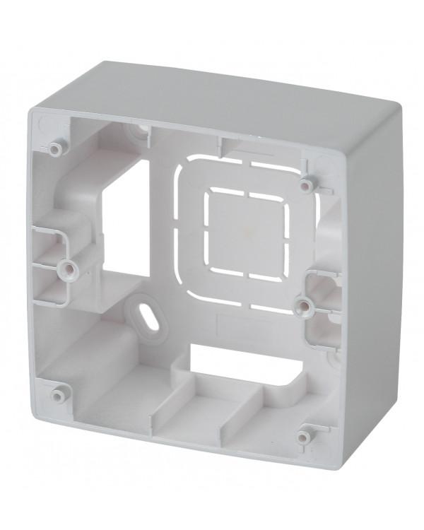 12-6101-03 ЭРА Коробка наклад. монтажа 1 пост, Эра12, алюминий (20/200/1600)