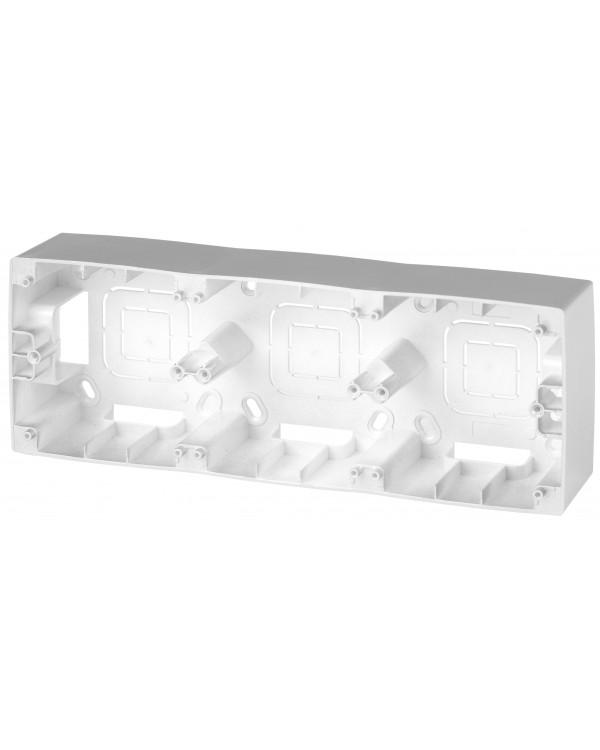 12-6103-03 ЭРА Коробка наклад. монтажа 3 поста, Эра12, алюминий (5/50/400)