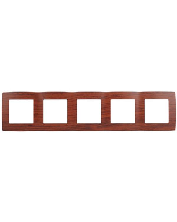 12-5005-08 ЭРА Рамка на 5 постов, Эра12, вишня (10/100/1600)