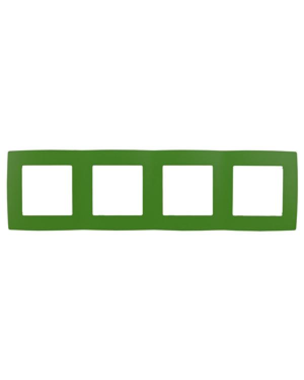 12-5004-27 ЭРА Рамка на 4 поста, Эра12, зелёный (10/100/2000)
