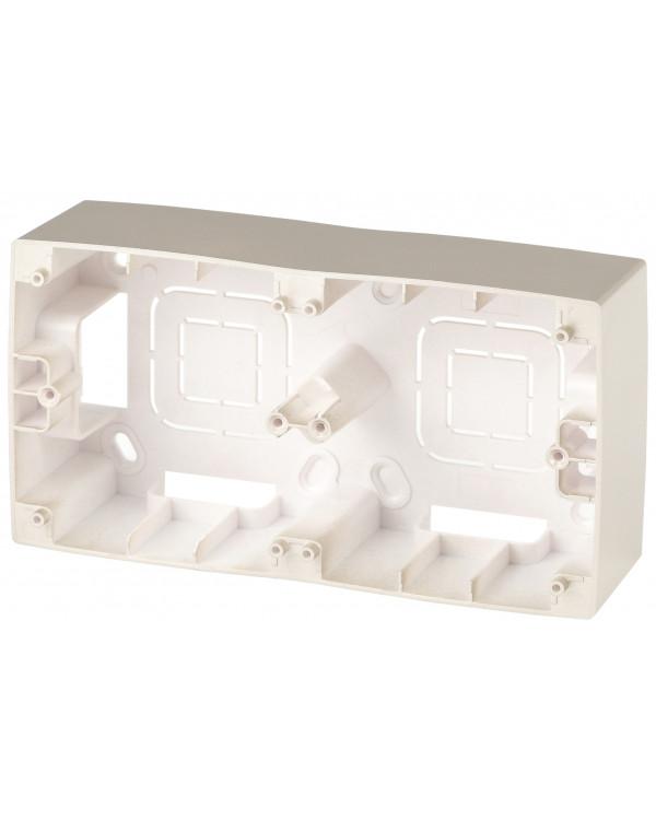 12-6102-04 ЭРА Коробка наклад. монтажа 2 поста, Эра12, шампань (10/100/400)