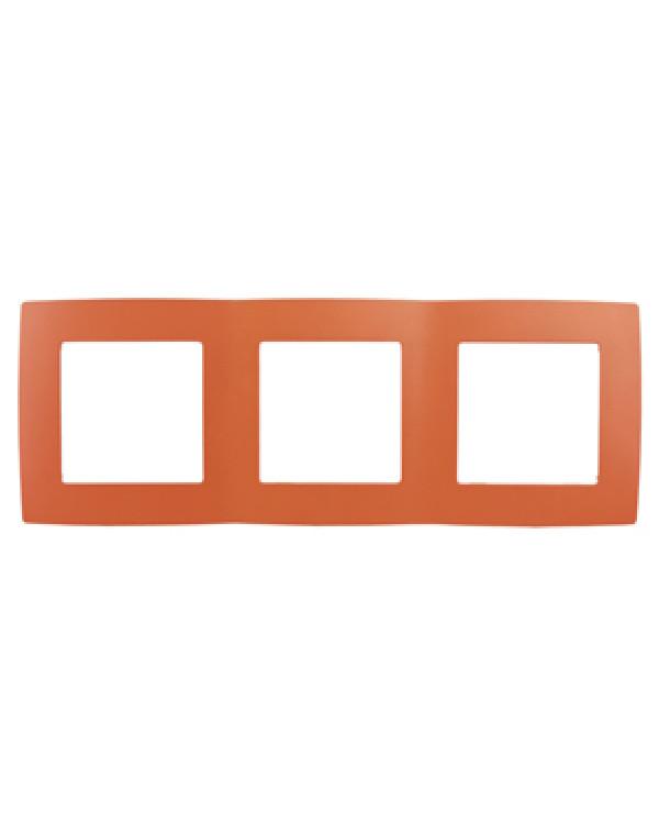 12-5003-22 ЭРА Рамка на 3 поста, Эра12, оранжевый (15/150/3000)
