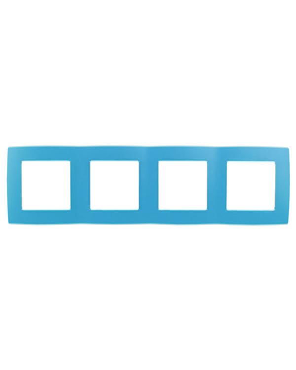 12-5004-28 ЭРА Рамка на 4 поста, Эра12, голубой (10/100/2000)