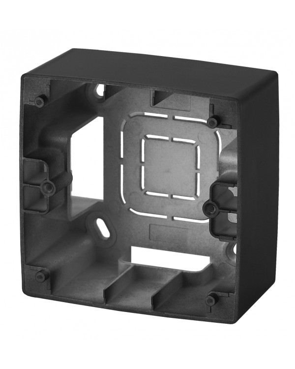 12-6101-05 ЭРА Коробка наклад. монтажа 1 пост, Эра12, антрацит (20/200/1200), 12-6101-05