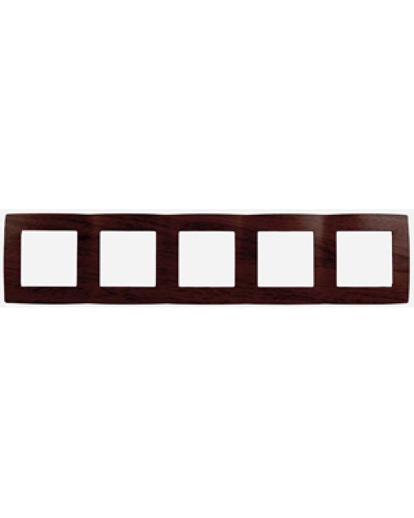 12-5005-10 ЭРА Рамка на 5 постов, Эра12, венге (10/100/1600)