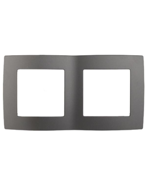 12-5002-12 ЭРА Рамка на 2 поста, Эра12, графит (10/100/3000)