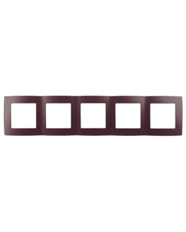 12-5005-25 ЭРА Рамка на 5 постов, Эра12, бордо (10/100/1600), 12-5005-25