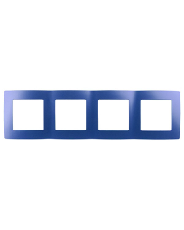 12-5004-29 ЭРА Рамка на 4 поста, Эра12, ультрамарин (10/100/2000)