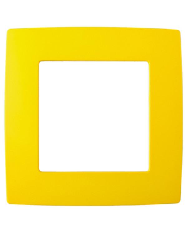 12-5001-21 ЭРА Рамка на 1 пост, Эра12, жёлтый (20/200/6000)