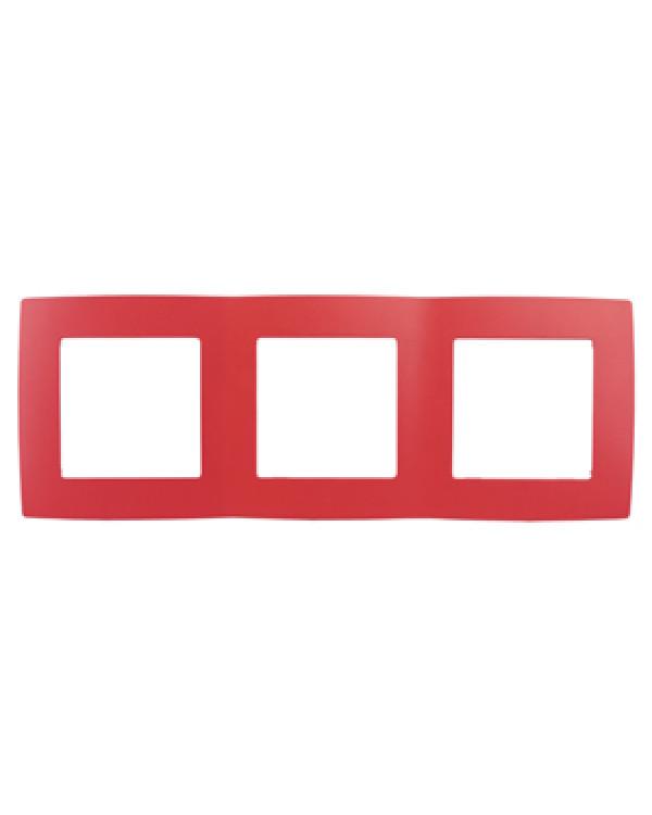 12-5003-23 ЭРА Рамка на 3 поста, Эра12, красный (15/150/3000)
