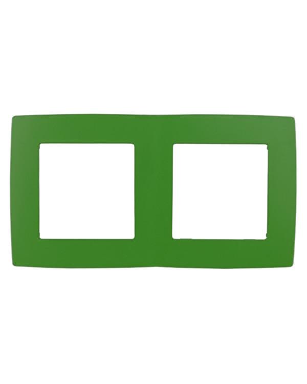 12-5002-27 ЭРА Рамка на 2 поста, Эра12, зелёный (10/100/3000)